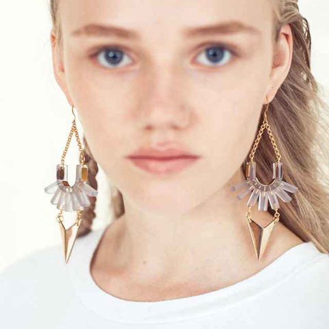 EA Burns, Ancient Rites, Span the depths earrings