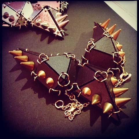 EA Burns geometric necklaces Secret Emporium