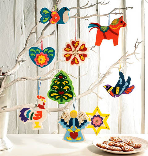 Felt Folk Christmas Decorations by McCalls