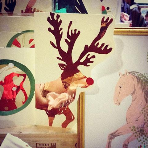 Haruko Miyauchi reindeer christmas card
