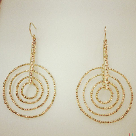 Malcolm Morris HoT gold plated earrings