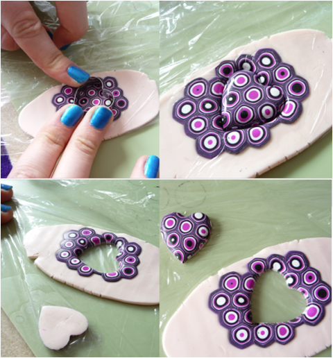 Polymer Clay christmas ornament heart tutorial from The Crafty Network