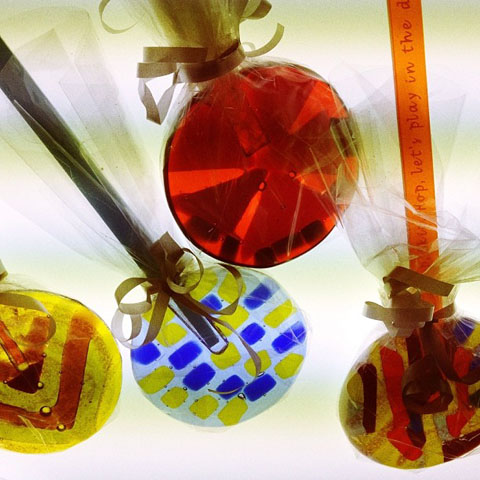 Quirky Curios glass lollipops