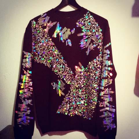 Tawn holographic sweater Secret Emporium Christmas Market