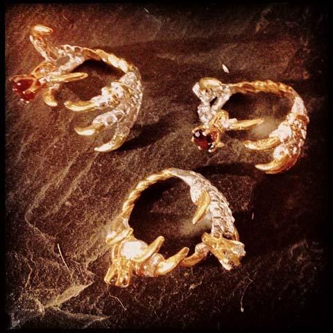 Tessa Metcalfe claw rings Secret Emporium Christmas Market
