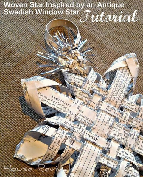 Woven Swedish Christmas Star Tutorial - House Revivals
