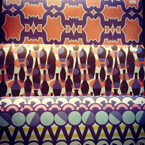 Eley Kishimoto wrapping paper for 1973 designs