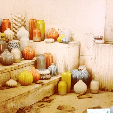 Multicoloured Pots by Broste of Copenhagen