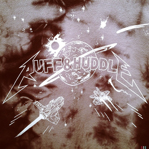 Ruff and Huddle tie dye sweat shirt