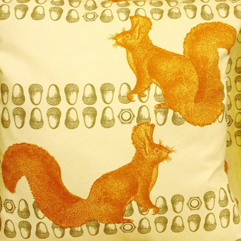 Thornback and peel squirrel cushion