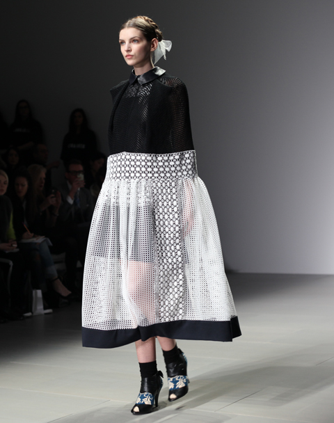 Bora Aksu AW 2014-monochrome outfit- photography by Amelia Gregory