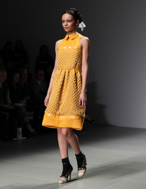Bora Aksu AW 2014-yellow dress-photography by Amelia Gregory
