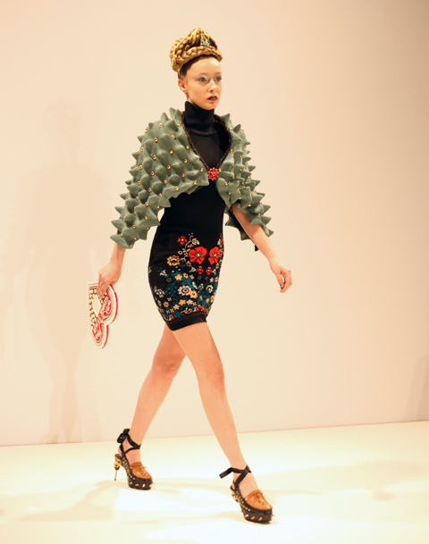 George Styler AW 2014-green spike top