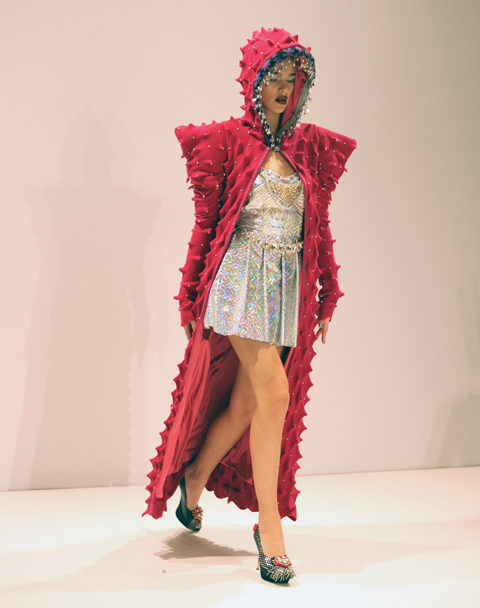 George Styler AW 2014-pink cape
