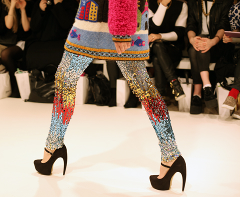 George Styler AW 2014-rainbow legs