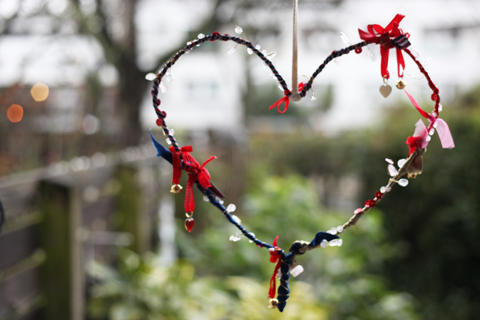 Hanging heart valentines decoration 2014-outside view