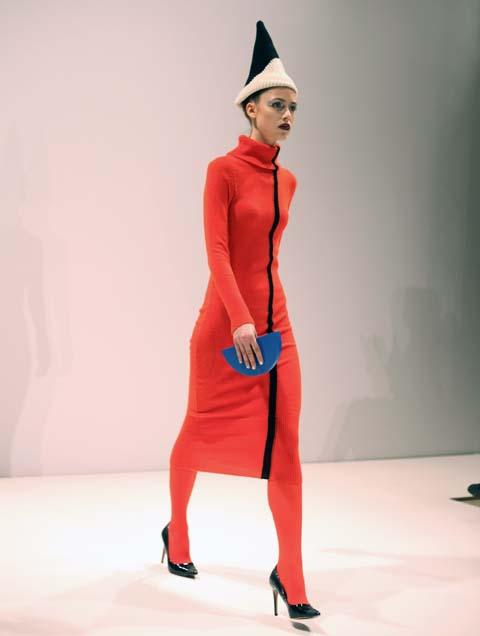 Hiroko Nakajima AW 2014-red dress