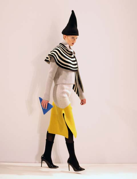 Hiroko Nakajima AW 2014-yellow skirt