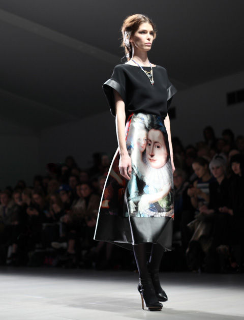 Jean-Pierre Braganza AW 2014-artemesia print dress