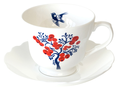 Louise Wilkinson Berry Tree cup & saucer