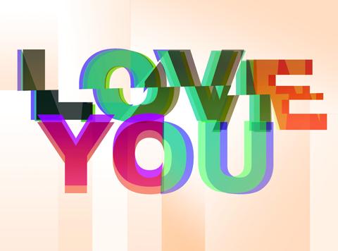 Love You print-East End Prints - valentines