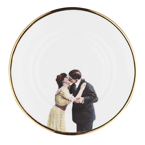 Melody Rose Kissing Couple Side Plate