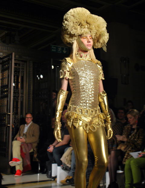 Pam Hogg A-W 2014 catwalk photo by Maria Papadimitriou