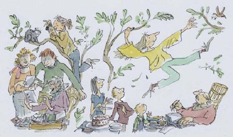 Quentine Blake - old people fantasy