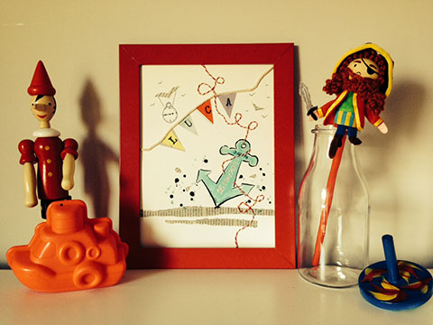 Anchor Keepsake by Little Playful Art