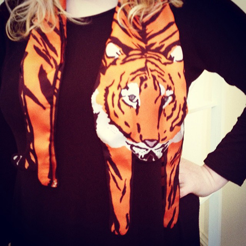 Cleo Mercury silk scarf