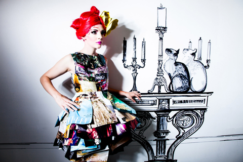 Gabby Young with candles