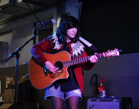 Joana Serrat 2014-Rough Trade East live gig, photography by Amelia Gregory