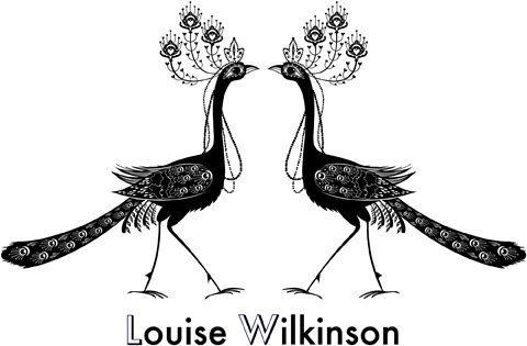 Louise Wilkinson Logo peacocks