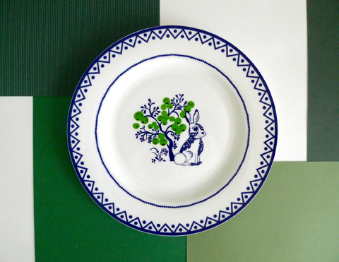 Louise Wilkinson ceramics-Apple Tree dinner plate lifestyle