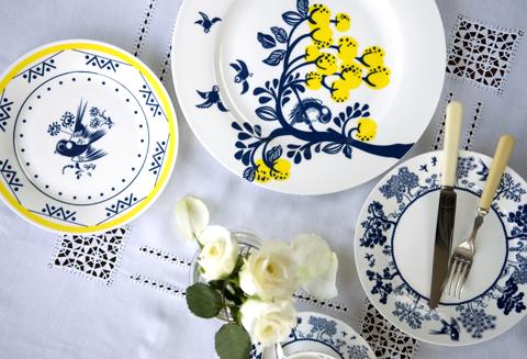 Louise Wilkinson ceramics- Lemon Tree dinner plate lifestyle