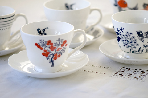 Louise Wilkinson ceramics-Teacups