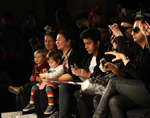 Mimi Fasi AW 2014-babies on front row