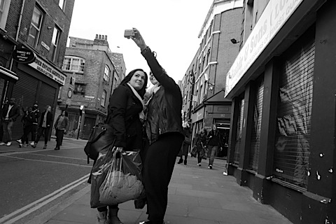Brick Lane, photo by Phil Maxwell girls