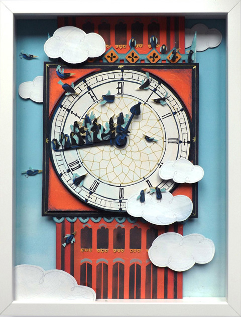 Starlings on the clock, Sonia Poli