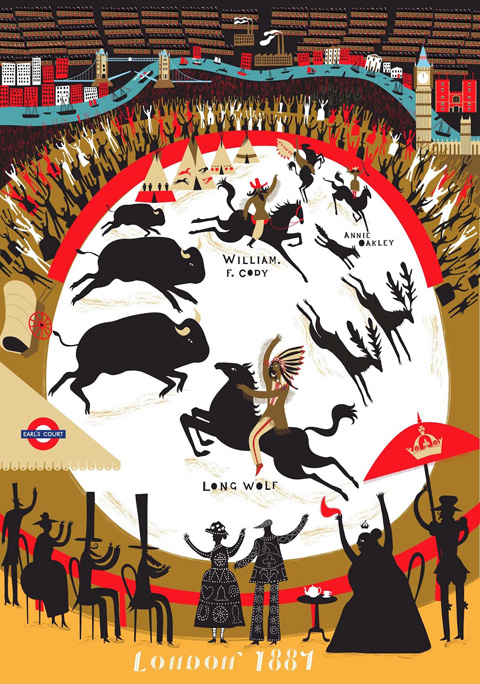 london stories, Long Wolf and Buffalo Bill's Wild West Show - Melvyn Evans