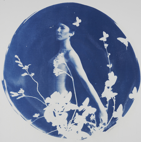 siren #2 by Rosie Emerson, Cyanotype, 74 cm dimensions round