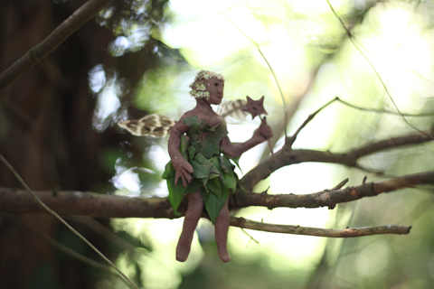 Wood Festival 2014-clay fairy