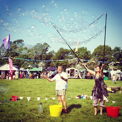 Wood Festival bubbles