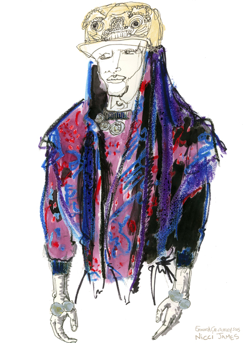 Nicci James Edward Crutchley Ss 15 illustration froggy hat