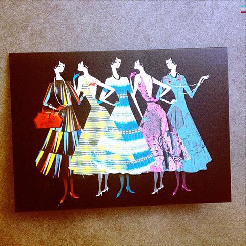Lesley Barnes fashion illustration