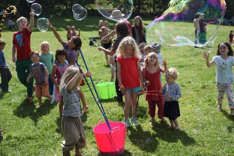 Green Earth bubbles
