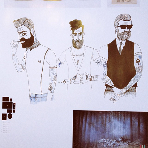 New Blood Hipsters by Jacqueline Fryars at Blackpool & Flyde college