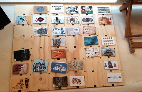 southampton solent school of art - hullabaloo degree show 2014 - business cards