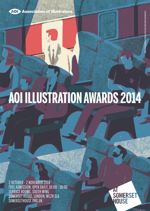 AOI Illustration awards flyer