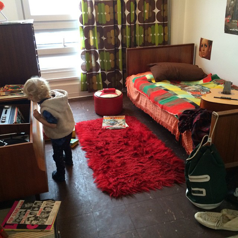Balfron Tower Flat 130 interior bedroom